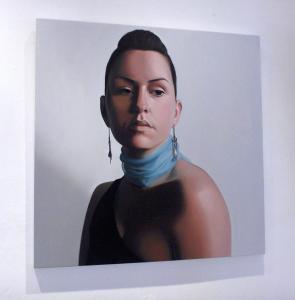 'Blue silk scarf' by artist Patricia Rorie