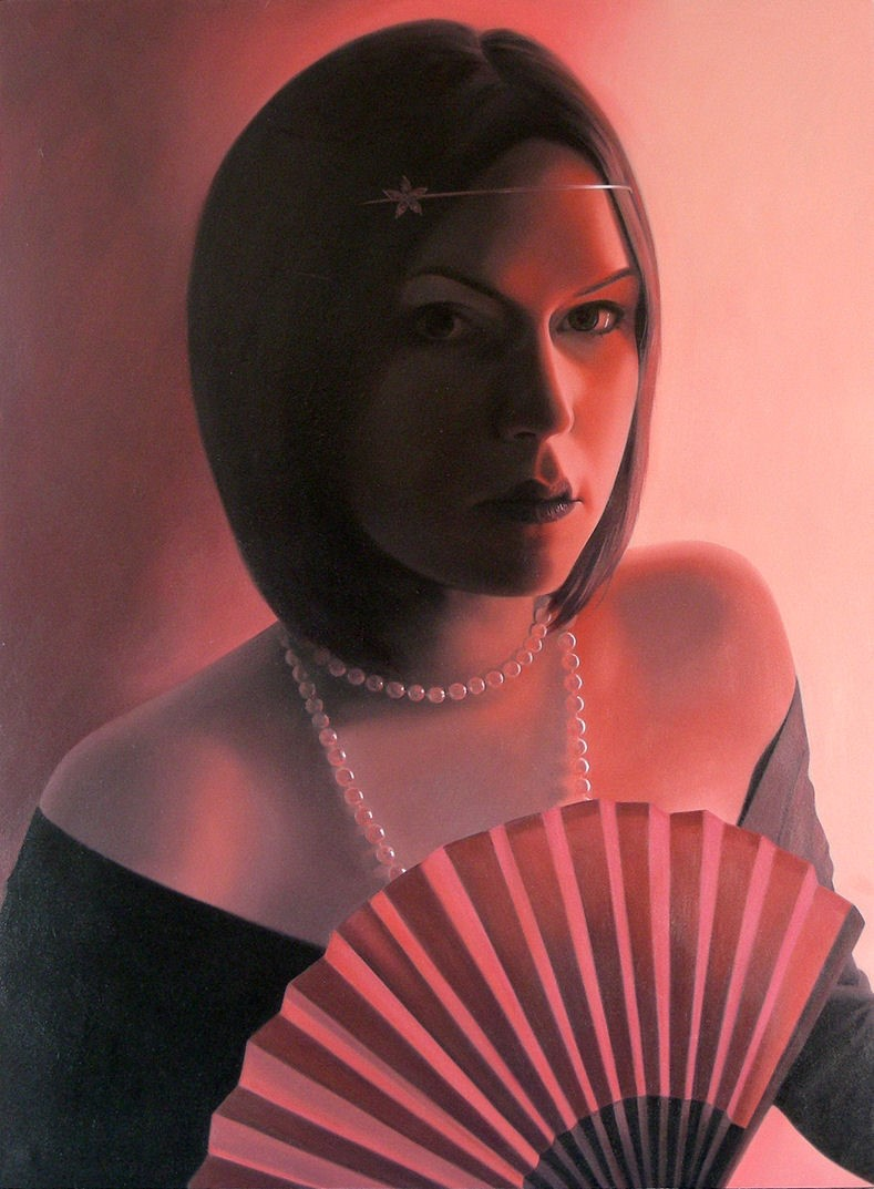 'Red Fan' by artist Patricia Rorie