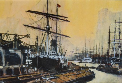 'Harbour Scene' by artist Malcolm Cheape