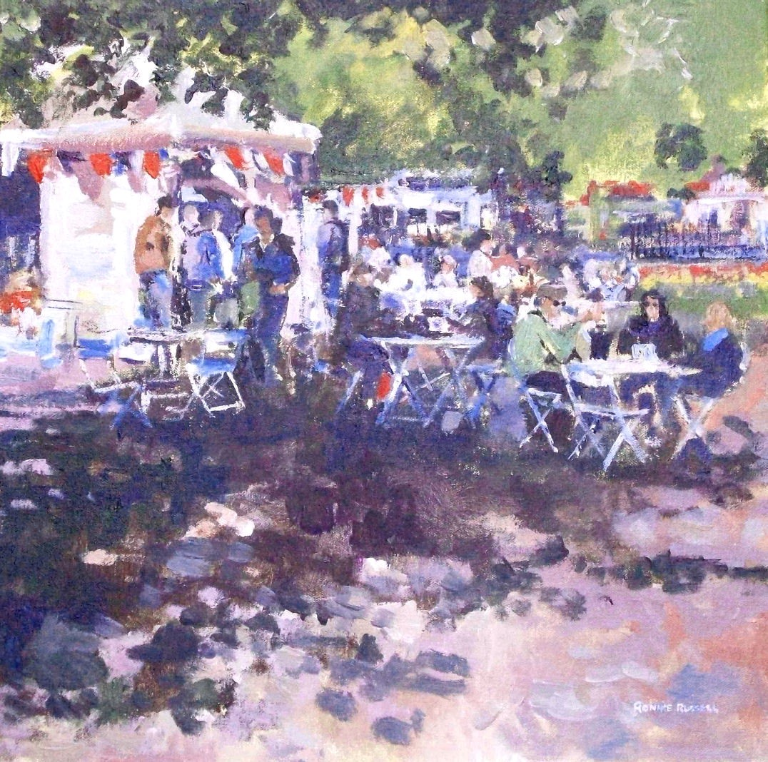 'Coffee Break, Princes Street Gardens' by artist Ronnie Russell