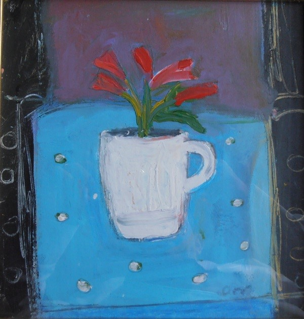 'White Cup and Flowers' by artist Kevin Hutchison-Orr