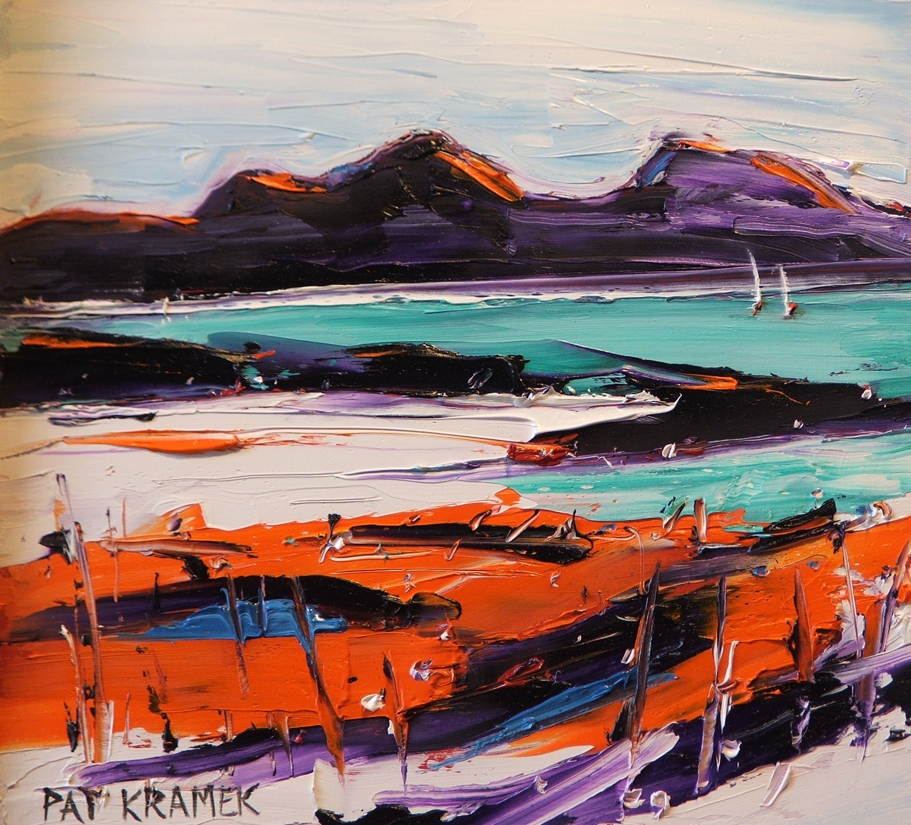 'Jura from Colonsay' by artist Pat Kramek