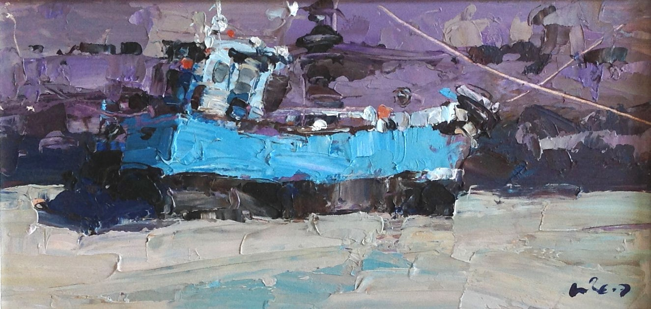 'Blue Boat, Low Tide' by artist Bill Reid