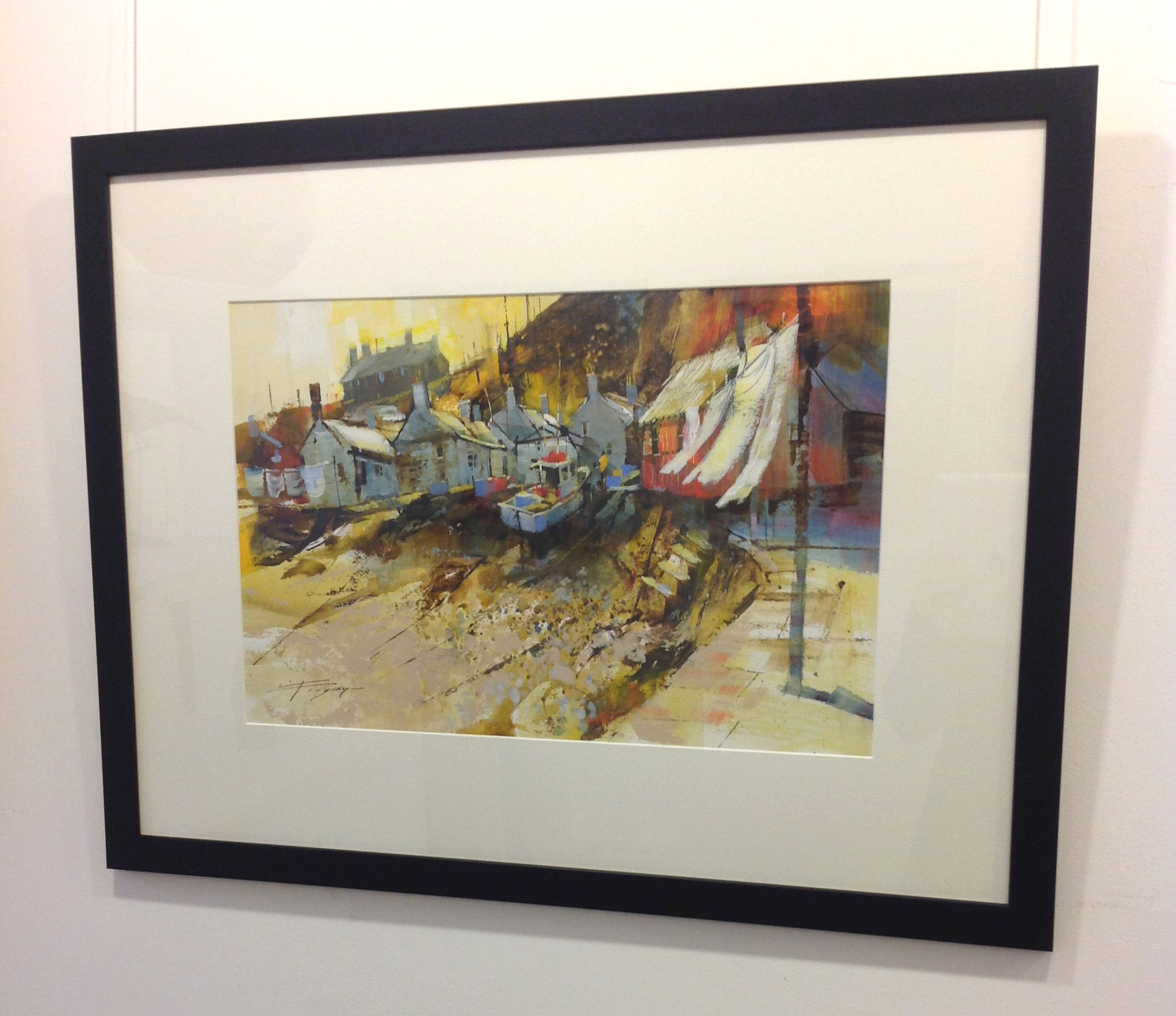 'Blowing in the Sun, Sandend' by artist Chris Forsey