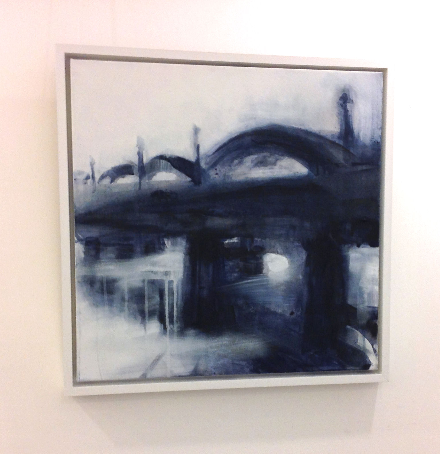 'The Bridge, High Tide Rain' by artist Jim Campbell