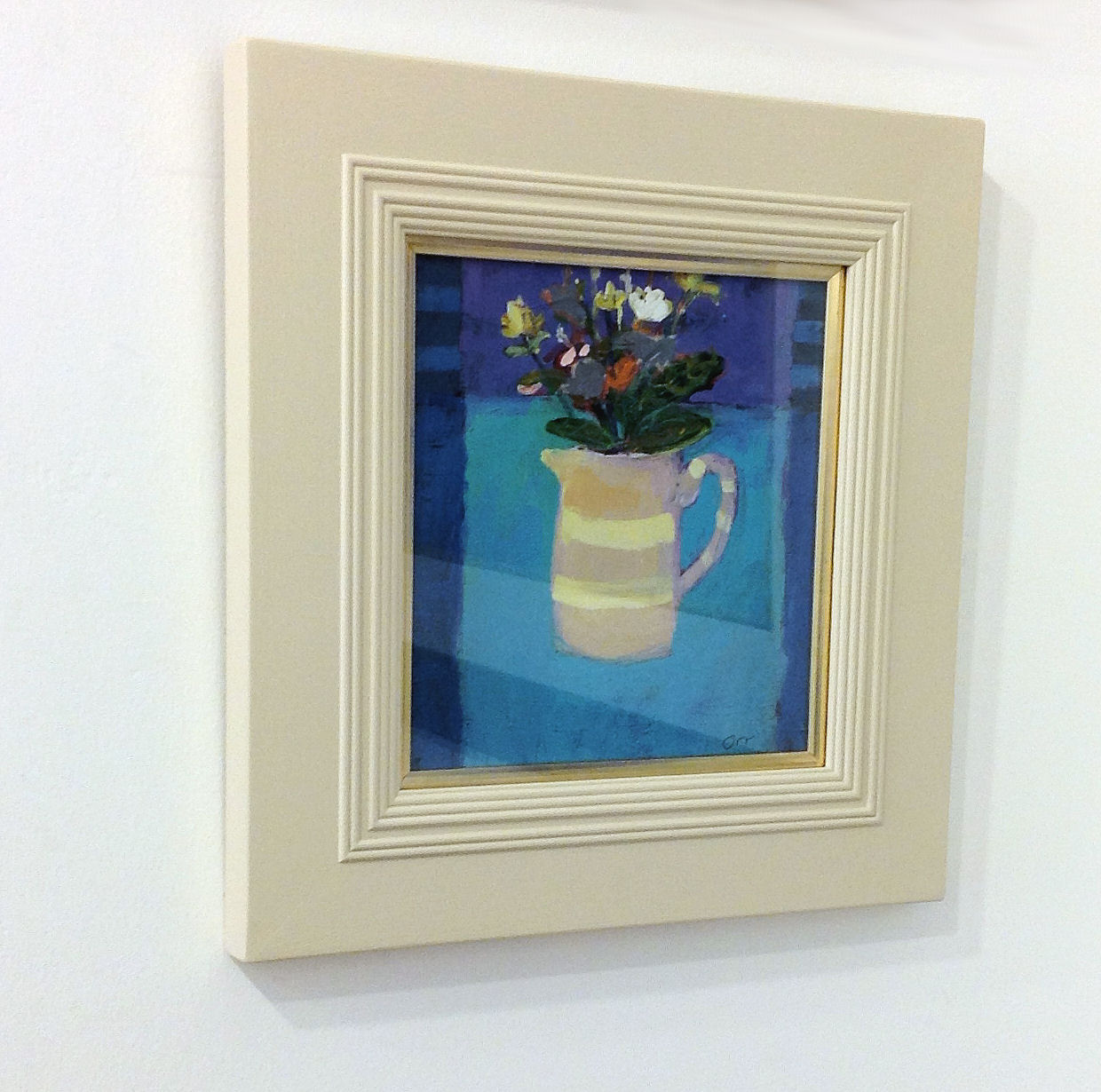 'Stripey Jug and Flowers' by artist Kevin Hutchison-Orr