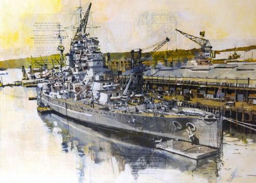'HMS King George V' by artist Malcolm Cheape