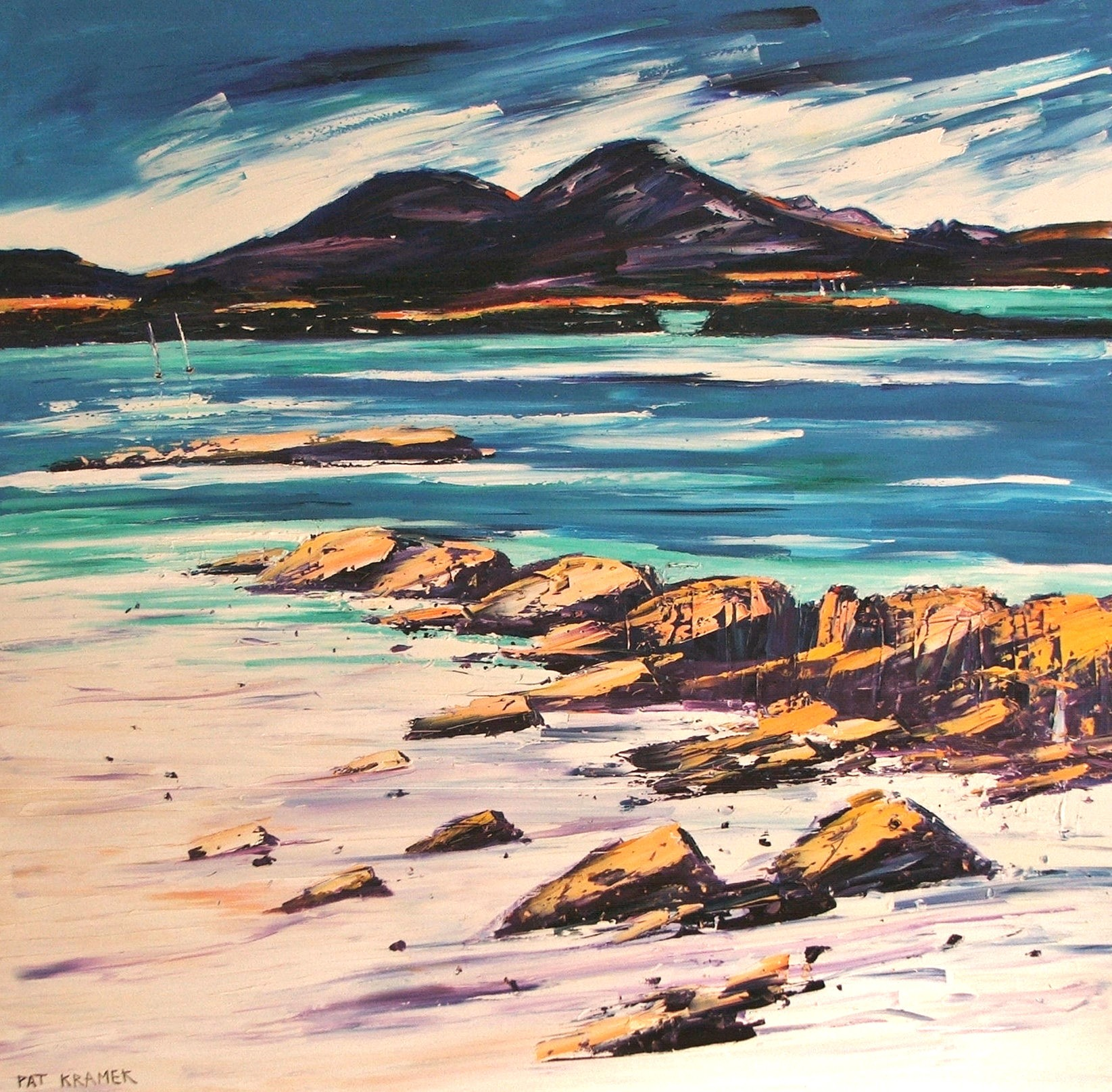 'The Cuillins' by artist Pat Kramek