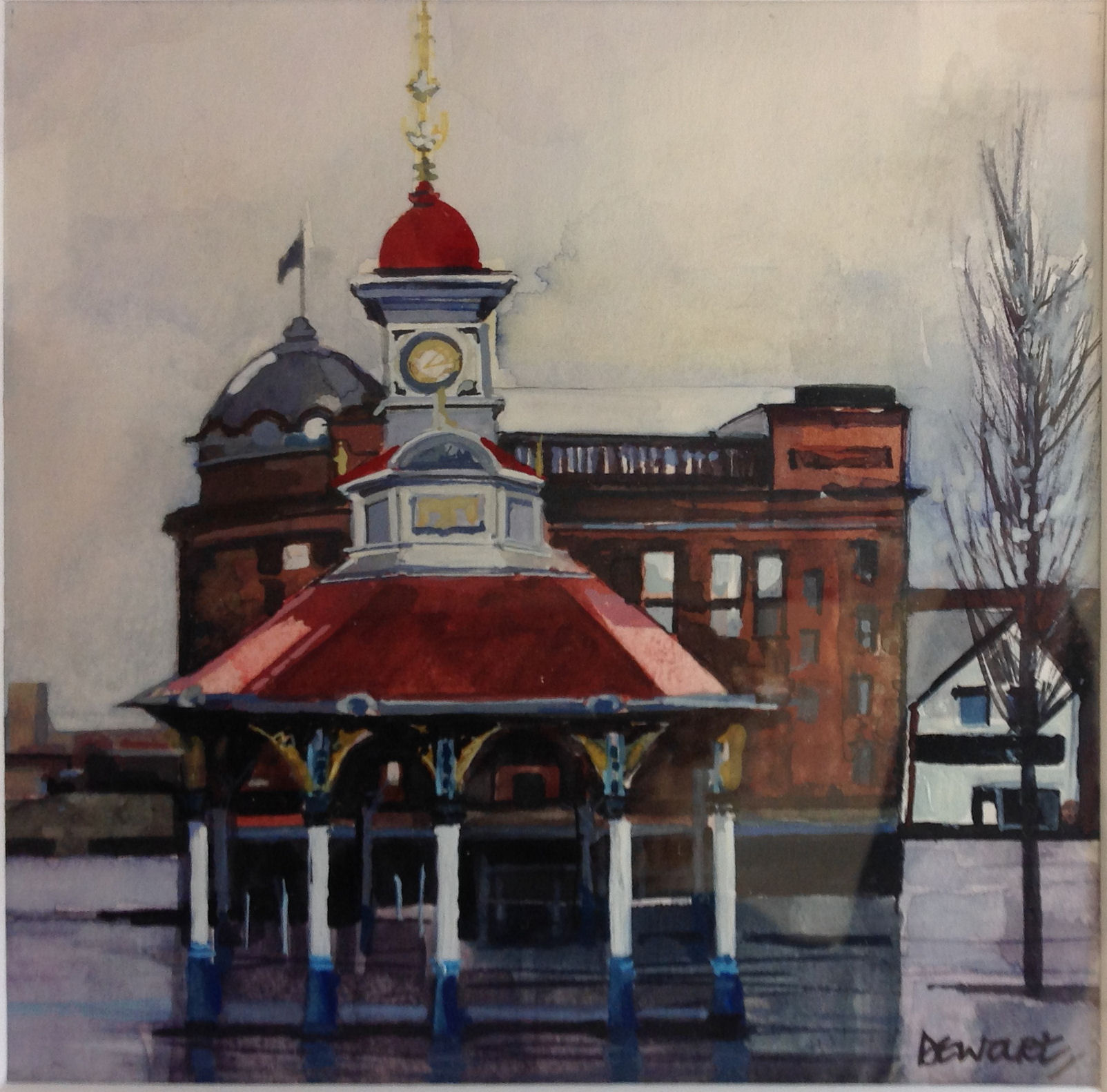 'Bridgeton Cross Umbrella' by artist Carol Dewart