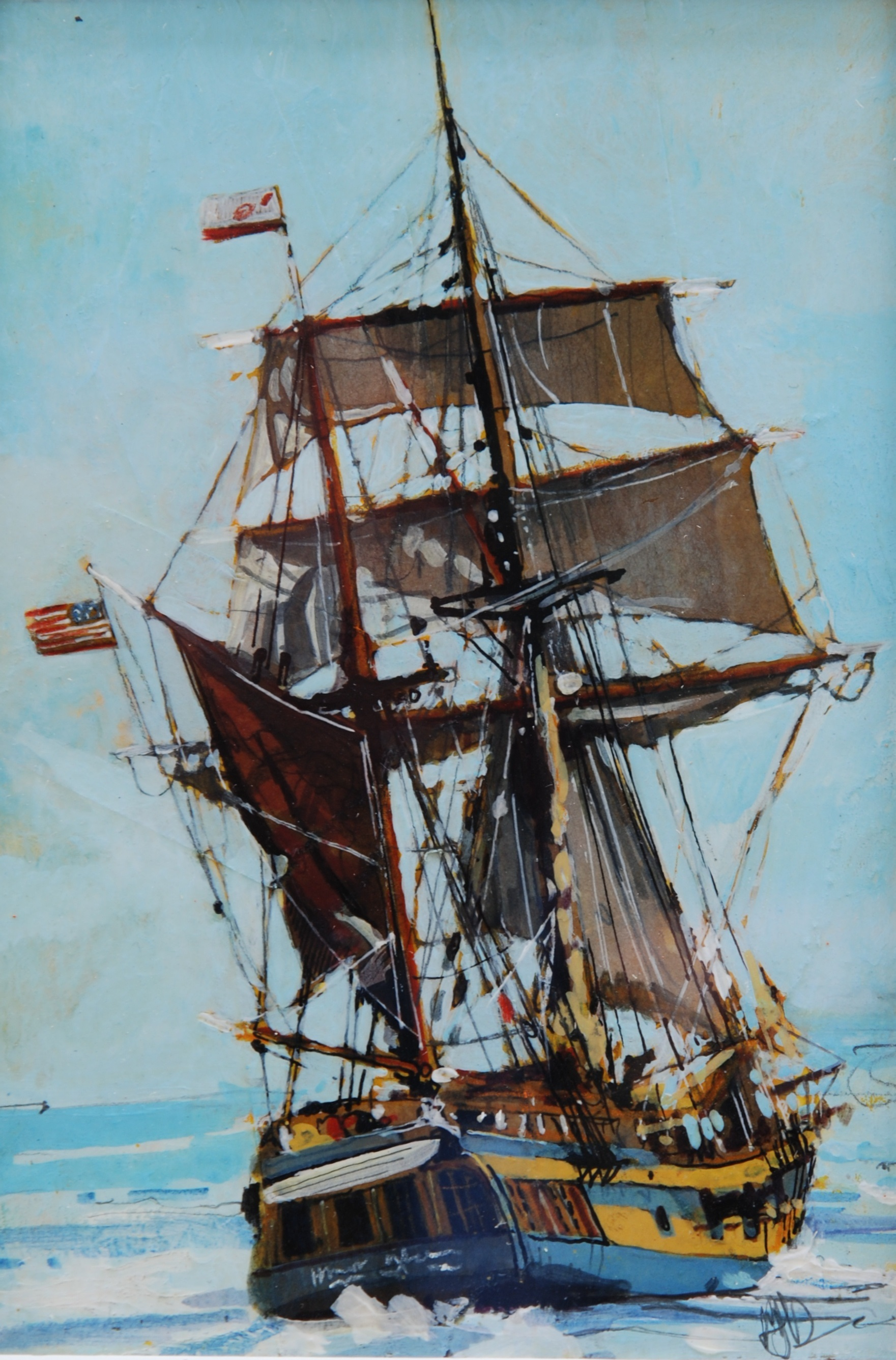 'Ship at Sea' by artist Malcolm Cheape