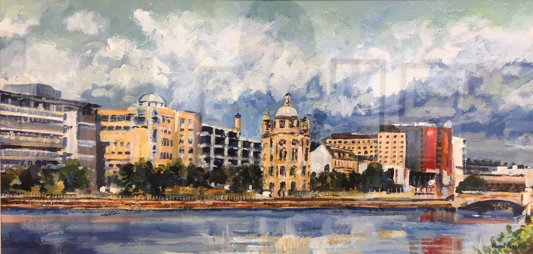 'Glasgow Waterfront' by artist Ronnie Russell