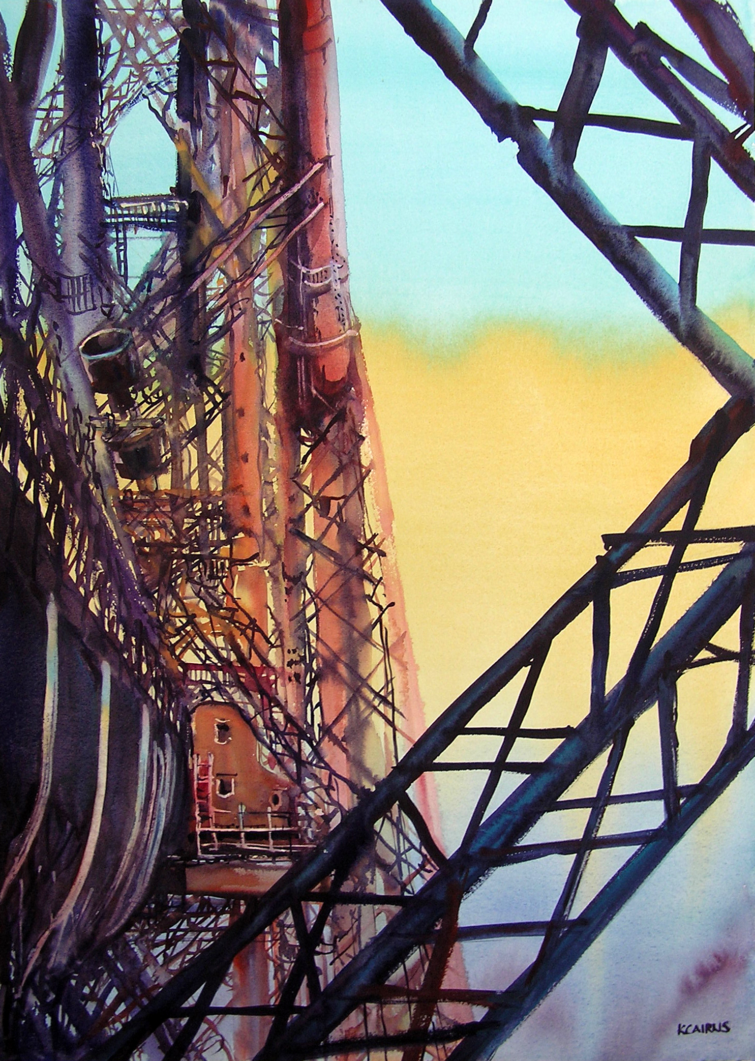 'Girders and Trusses, Forth Bridge' by artist Karen Cairns