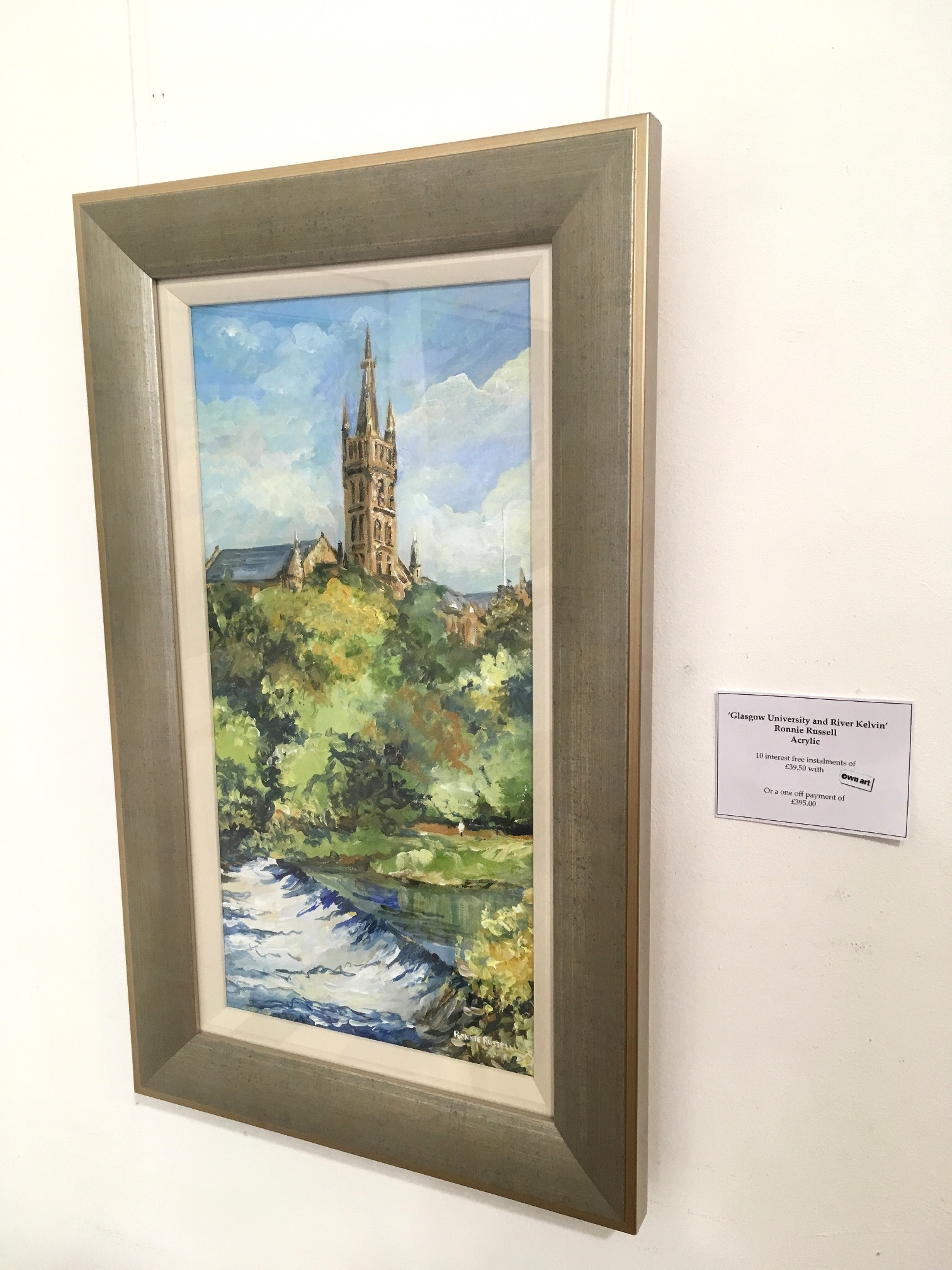 'Glasgow University and River Kelvin' by artist Ronnie Russell