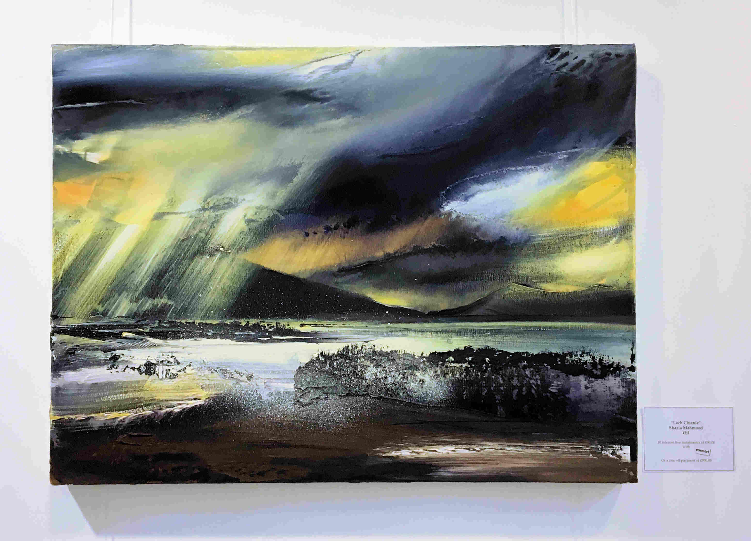 'Loch Cluanie' by artist Shazia Mahmood