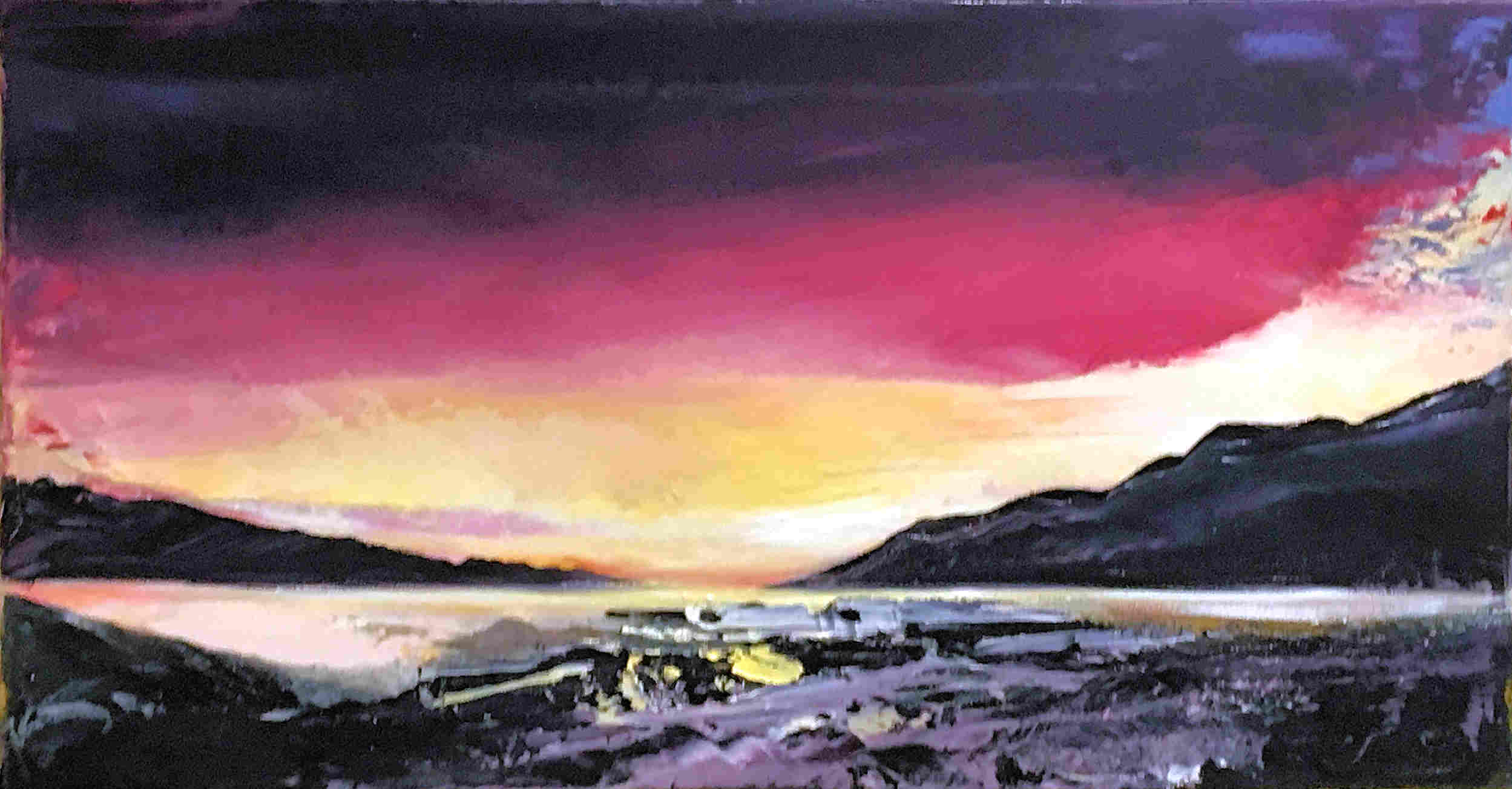 'Plockton to Skye' by artist Shazia Mahmood
