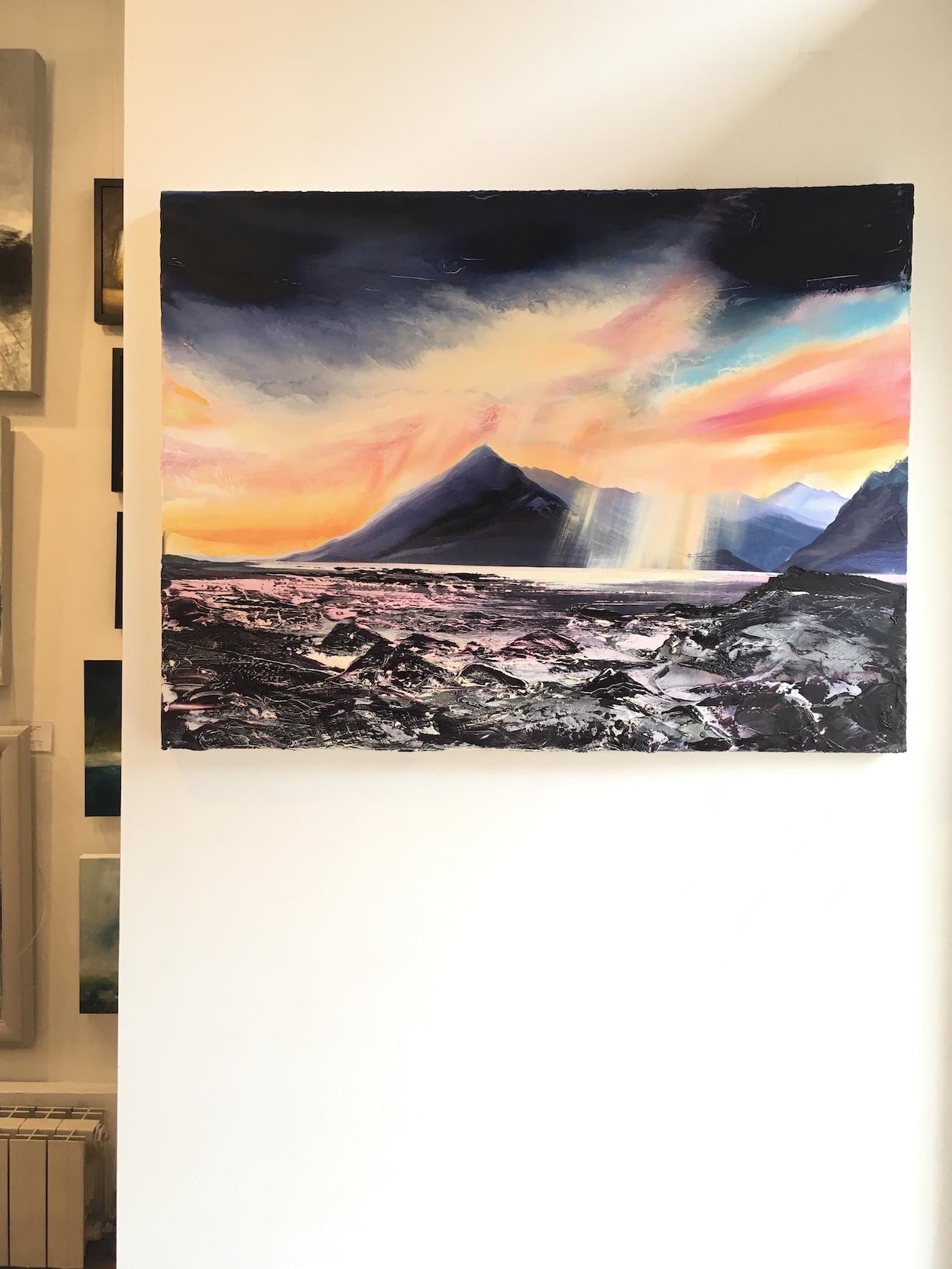 'Sunset Elgol' by artist Shazia Mahmood