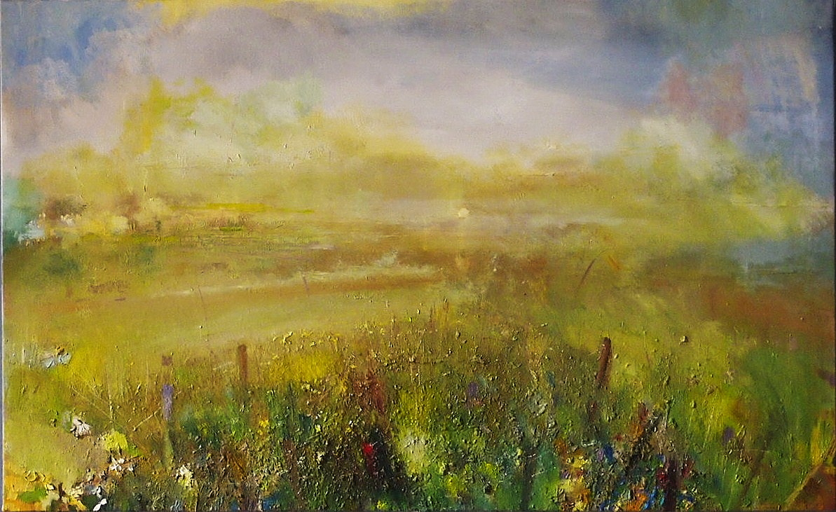 'Field with Flooded Meadow, Argyll' by artist John Gerard Anusas