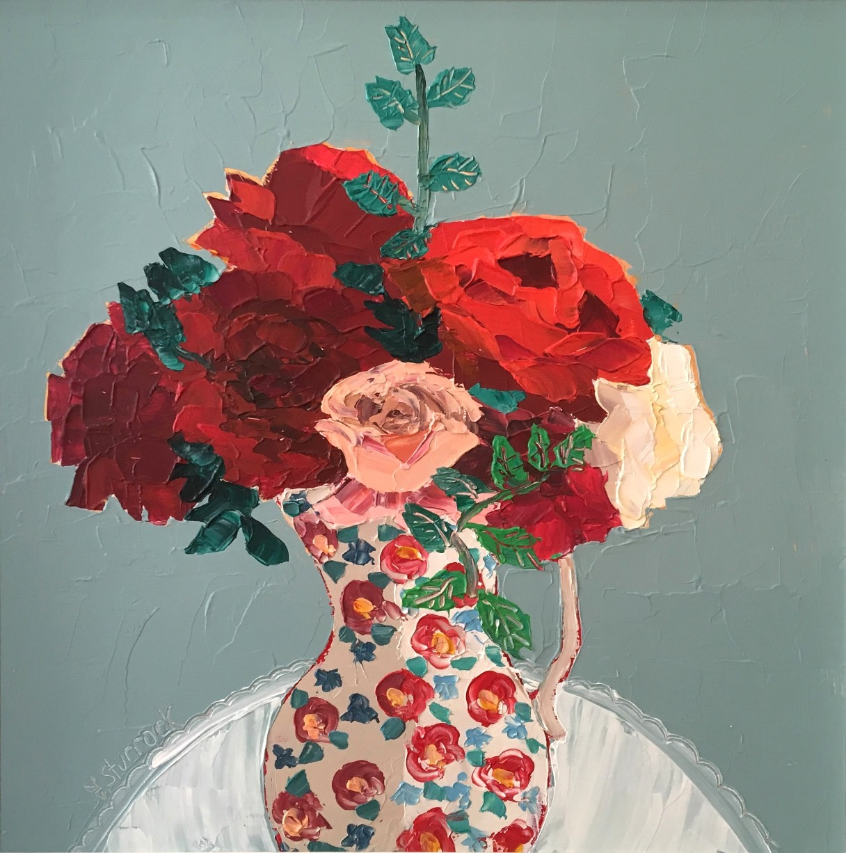 'Roses and Peonies' by artist Fiona Sturrock
