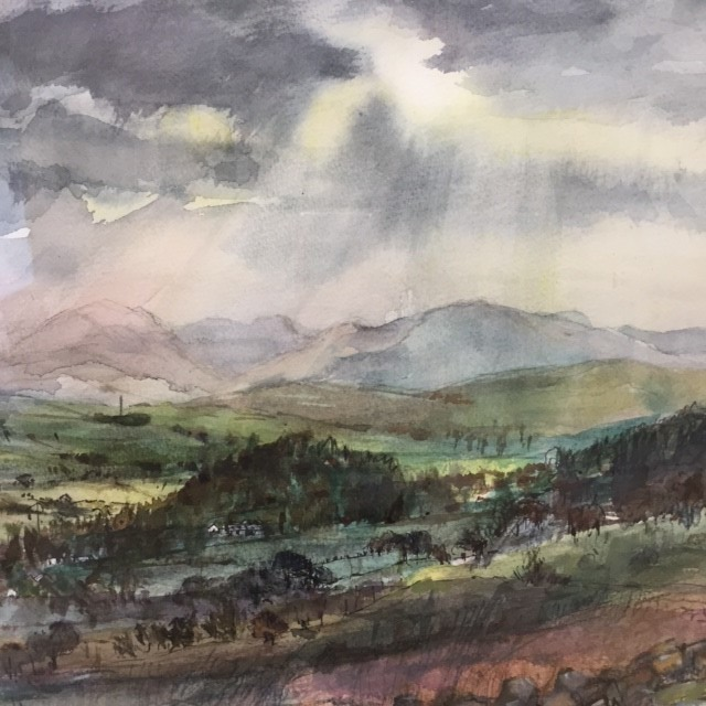 'Quinloch Muir by Stockiemuir' by artist Julia Gurney