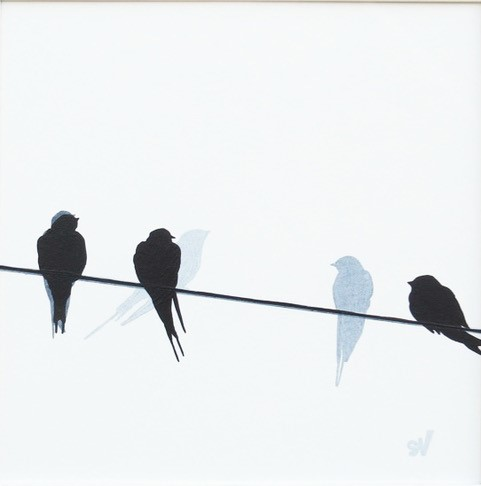 '3 Swallows' by artist Sandra Vick