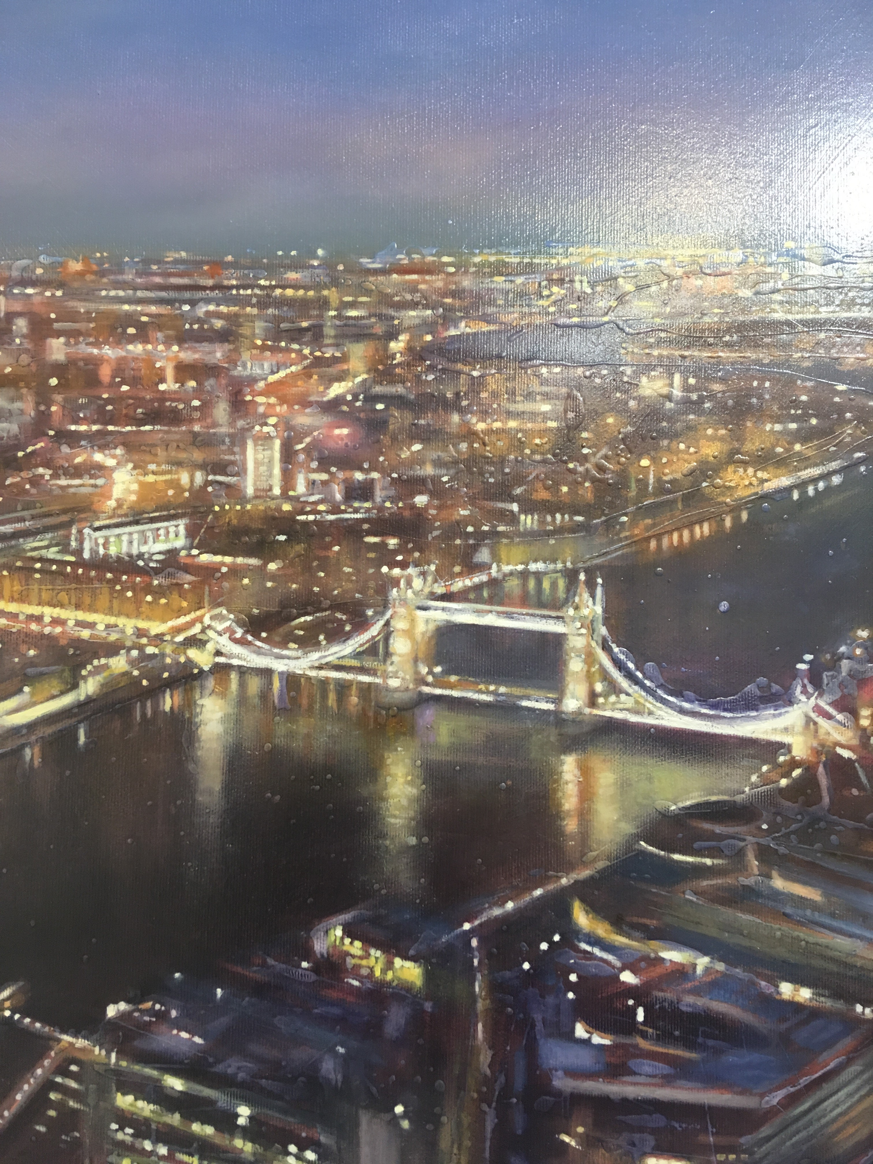 'Tower Bridge from the Shard' by artist Lesley Anne Derks