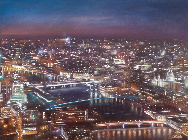 'View of St. Pauls from the Shard' by artist Lesley Anne Derks