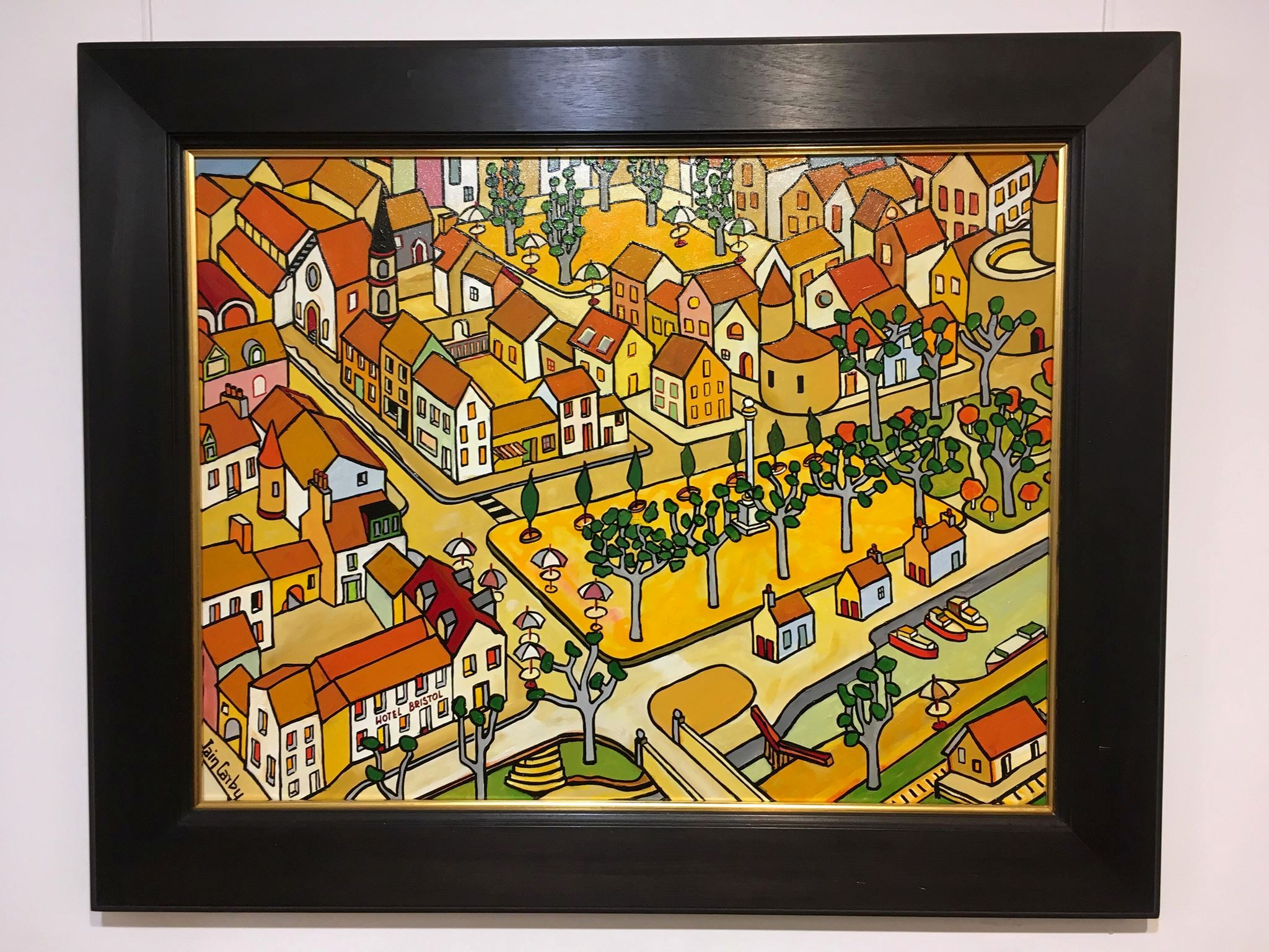 'The Bristol Hotel - Carcassone' by artist Iain Carby