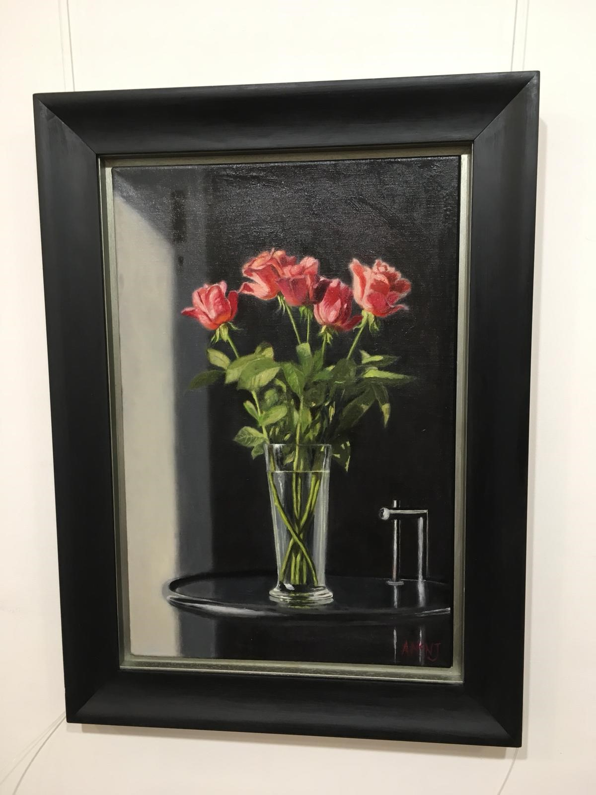 'A Vase of Red Roses' by artist Andrew McNeile Jones