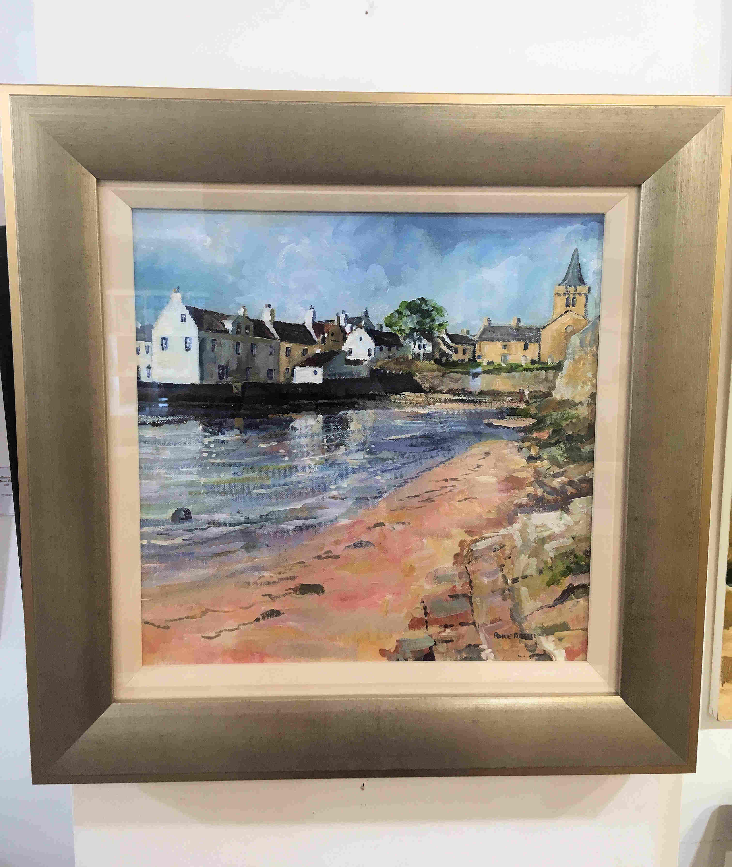 'Reflections, Anstruther' by artist Ronnie Russell