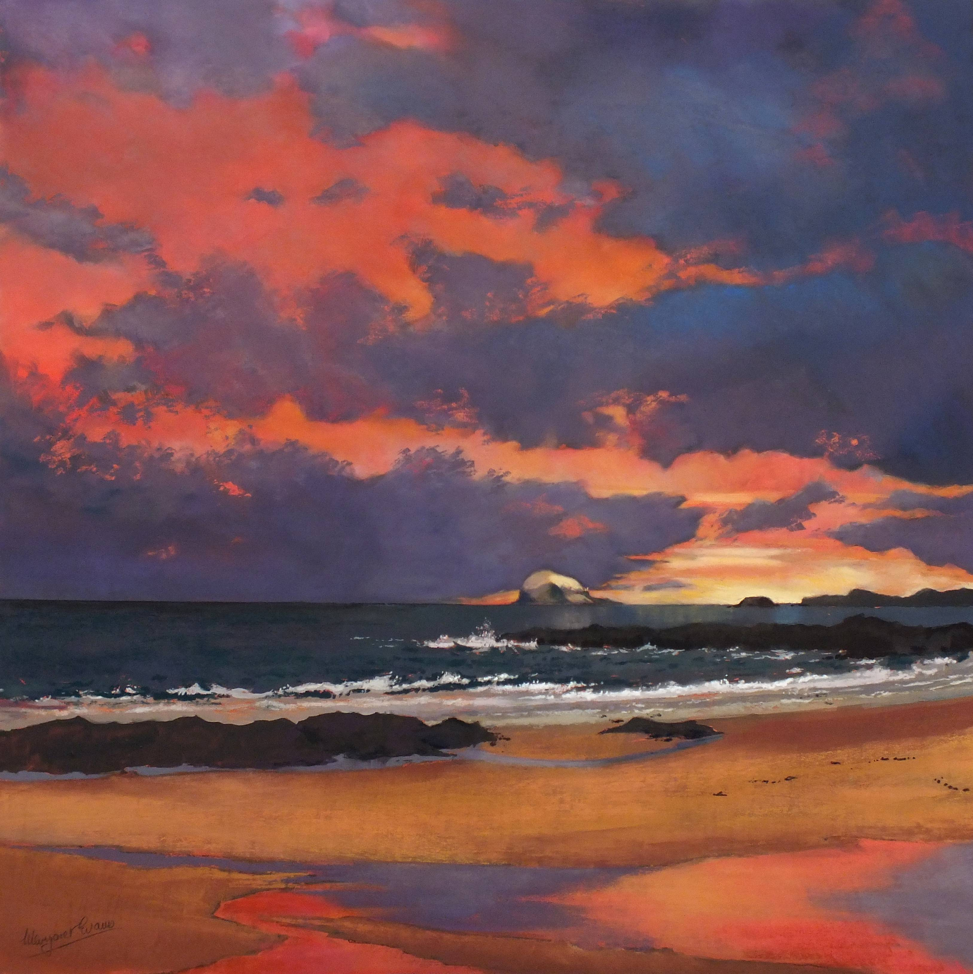 'Morning Glory, Bass Rock' by artist Margaret Evans