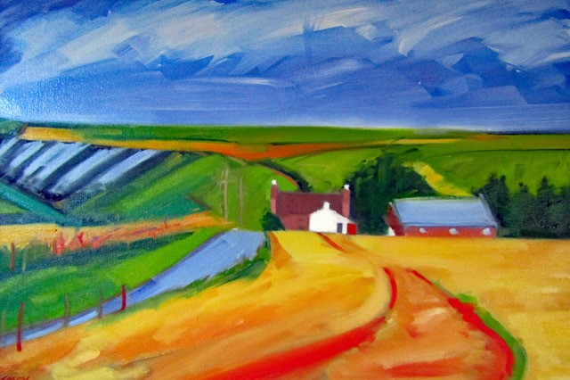 'Country Road, Aberdeenshire' by artist Pauline Patrick