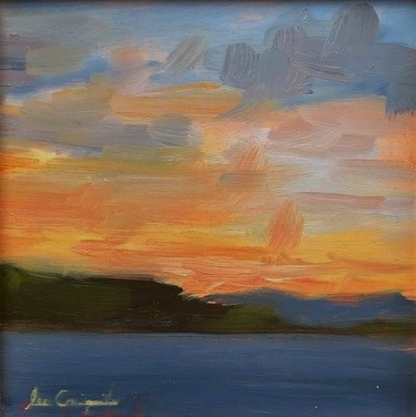 'Sunset Over the Clyde IV' by artist Lee Craigmile