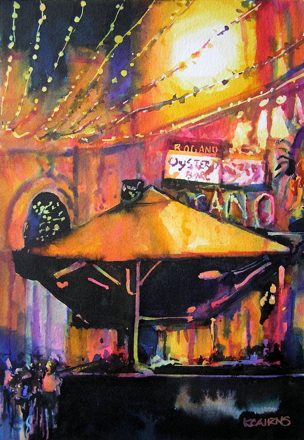 'Cocktail Hour at the Rogano ' by artist Karen Cairns
