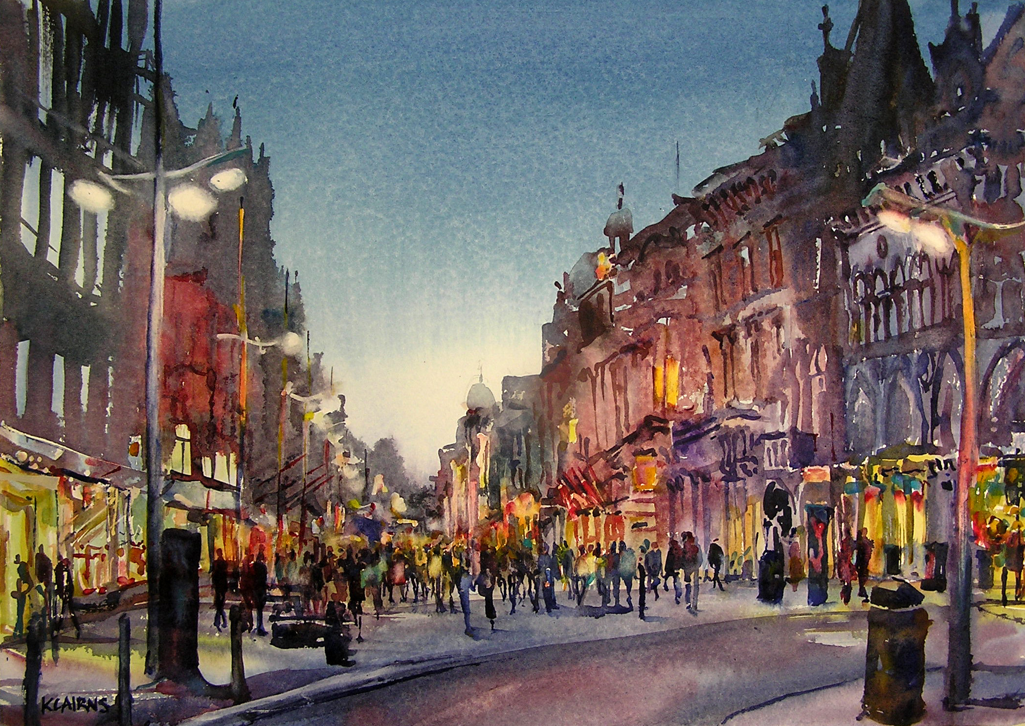 'Twilight Bustle, Buchanan Street' by artist Karen Cairns