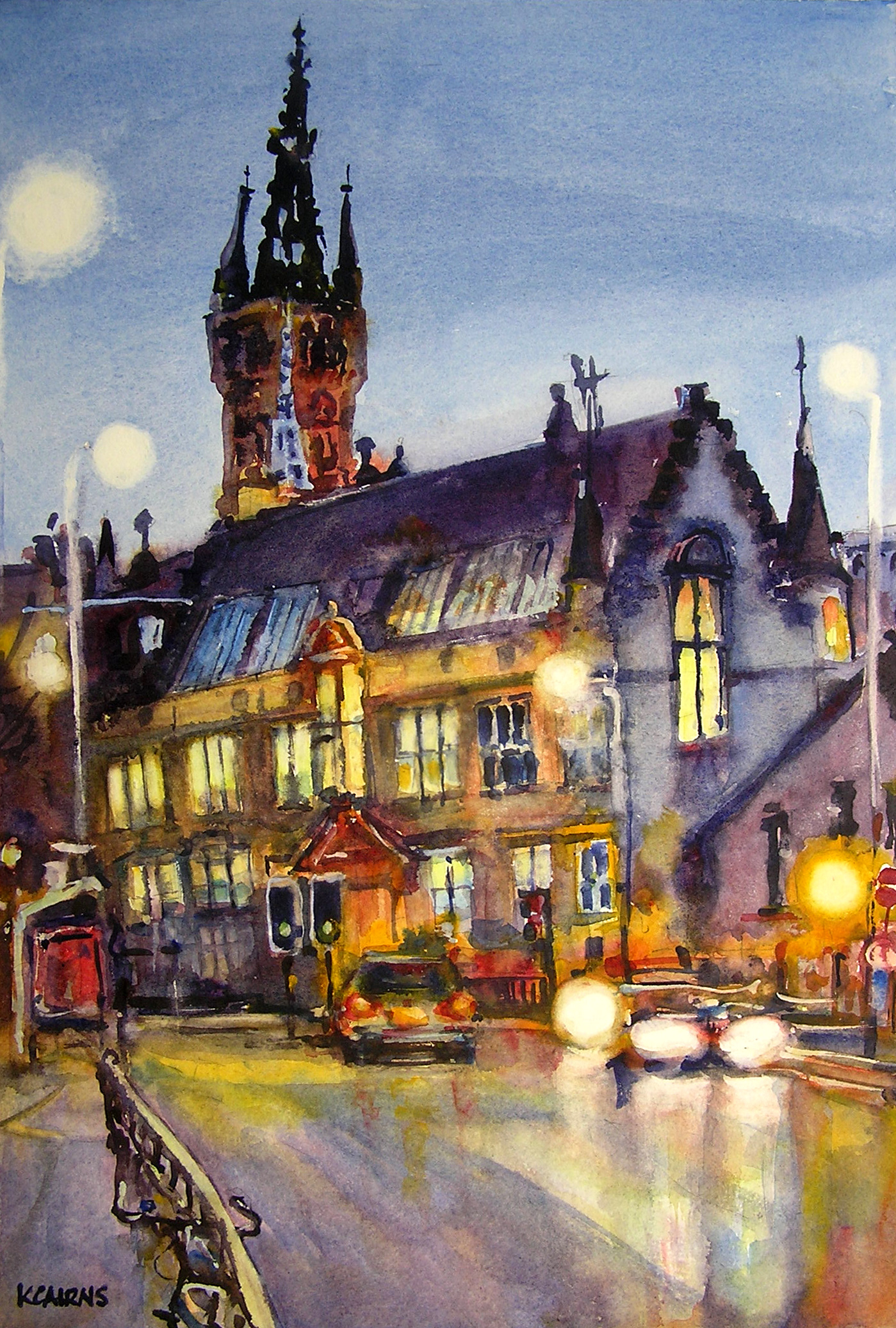 'Gothic Spires and Streetlights, University Avenue' by artist Karen Cairns