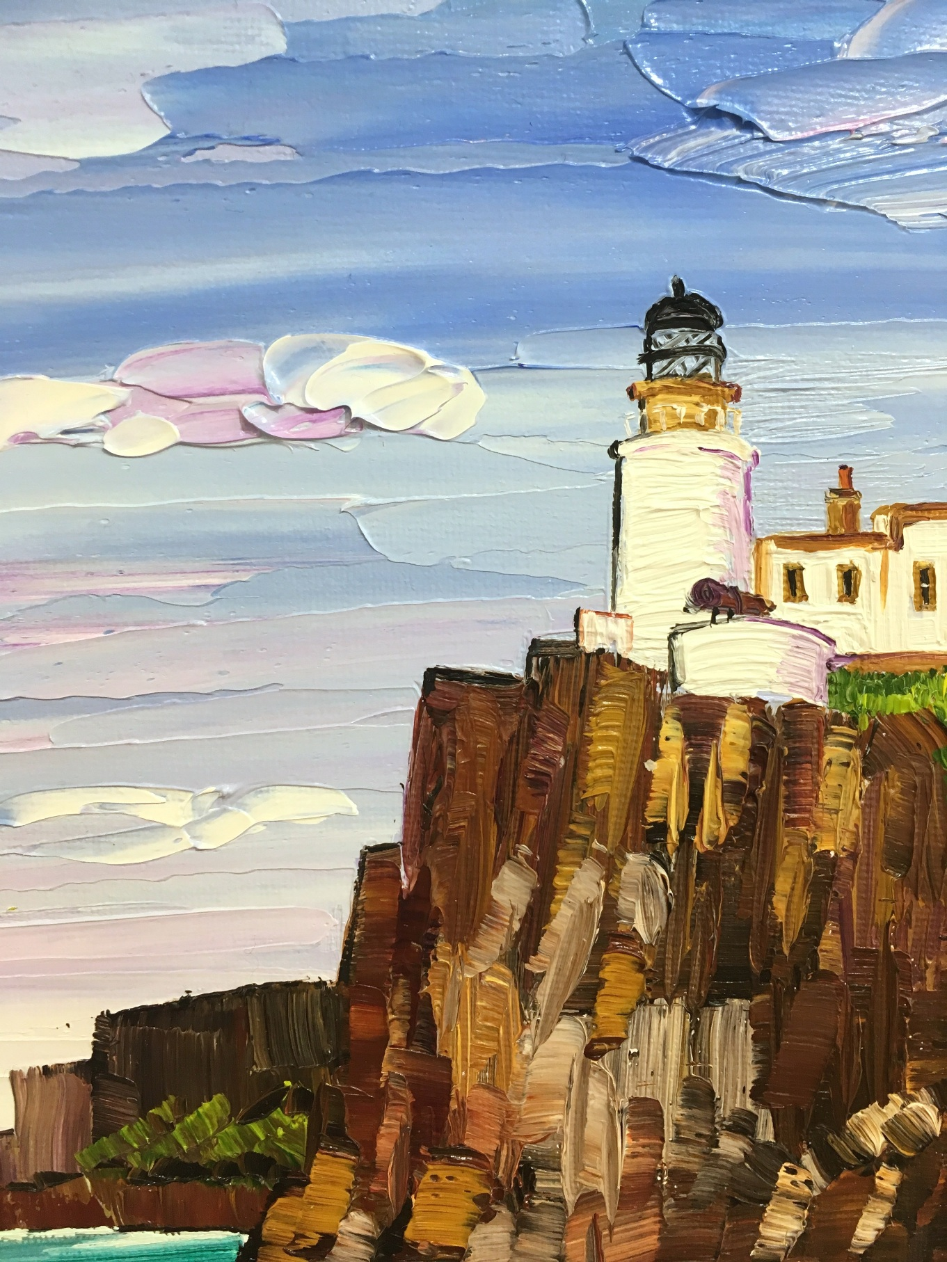 'Neist Point Lighthouse' by artist Sheila Fowler