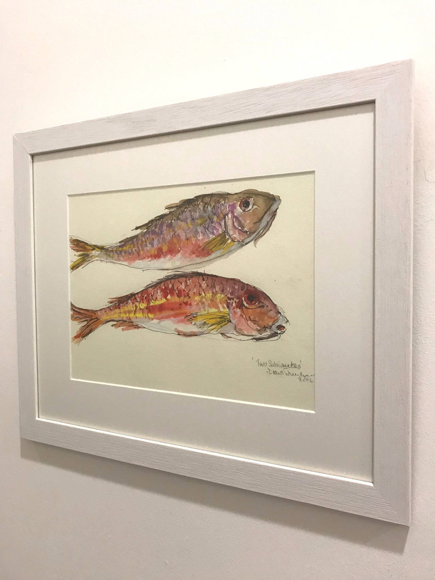 'Two Salmonete ' by artist Diana Tonnison