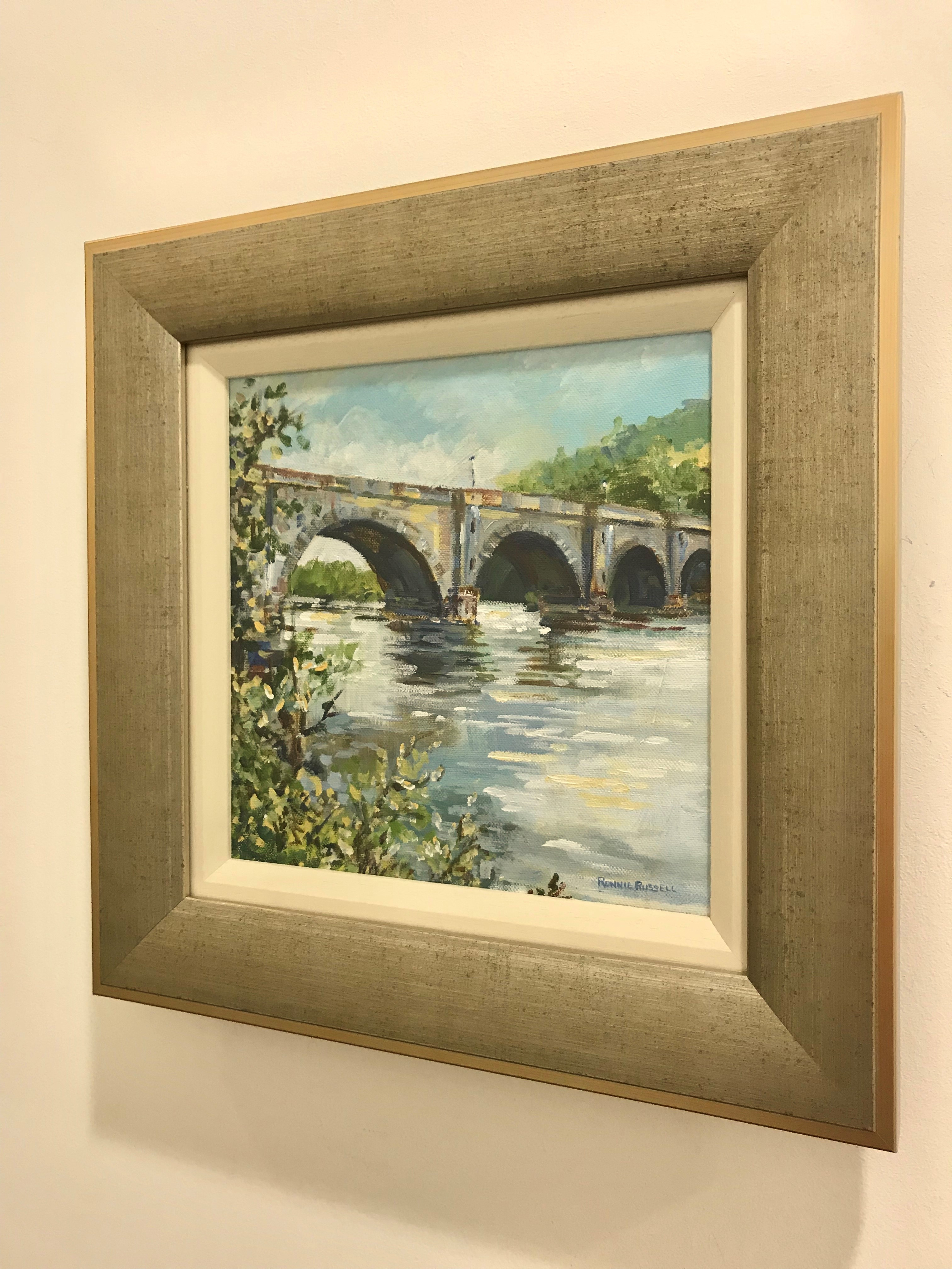 'The Thomas Telford Bridge in Dunkeld' by artist Ronnie Russell