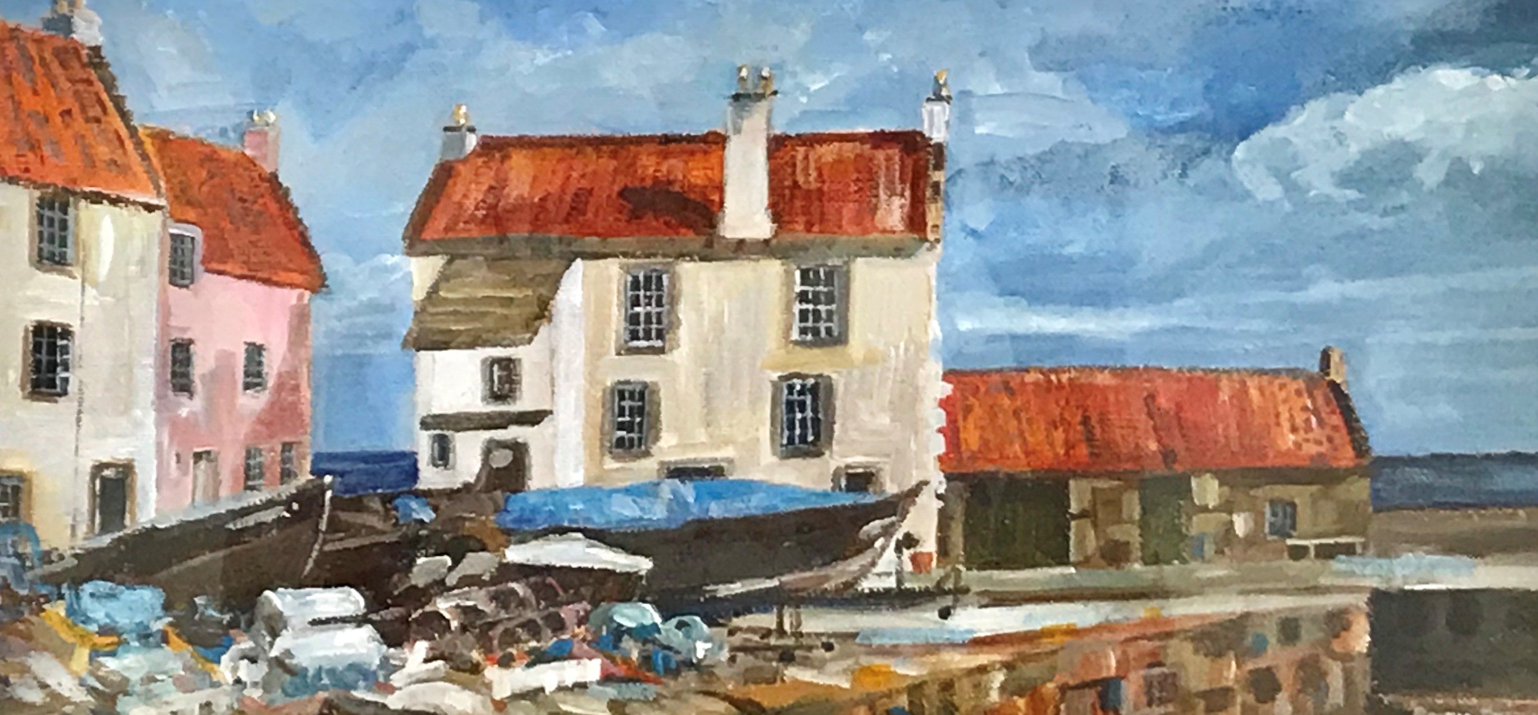 'Pantiles, Pittenweem Harbour ' by artist Ronnie Russell
