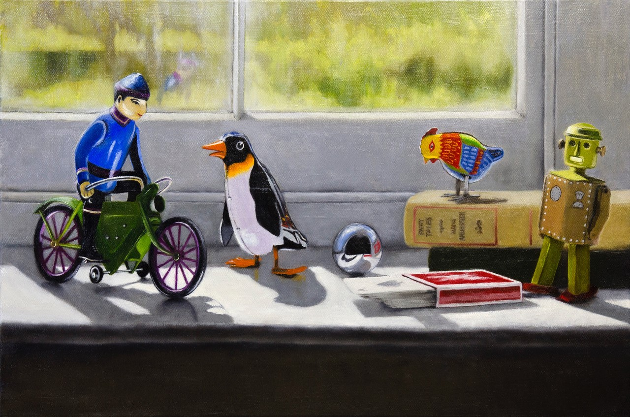 'A Windowsill Rendzvous' by artist Andrew McNeile Jones