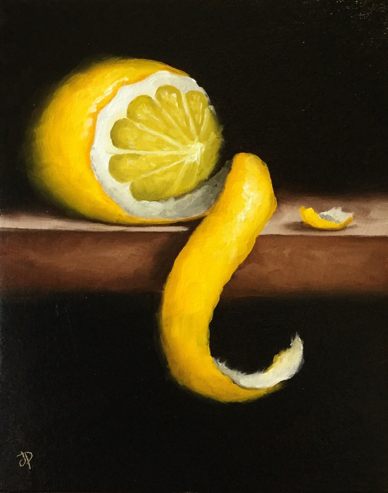 'Peeled Lemon' by artist Jane Palmer