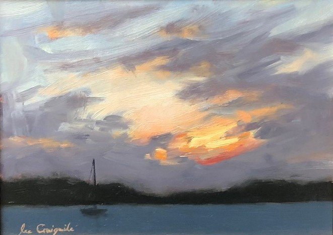 'West Coast Sunset VIII' by artist Lee Craigmile