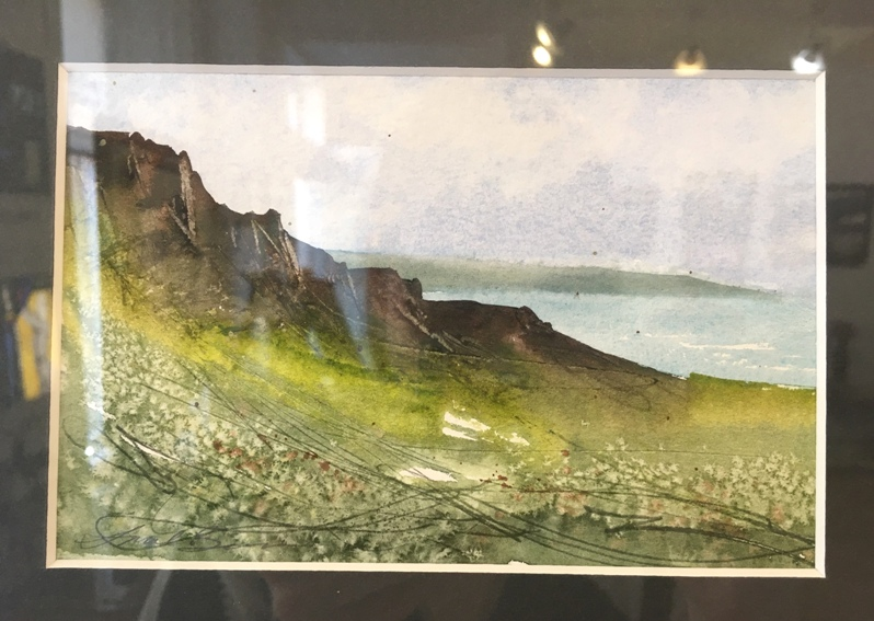 'Coastal Cliffs near Neist Point, Skye' by artist Sarah Burns