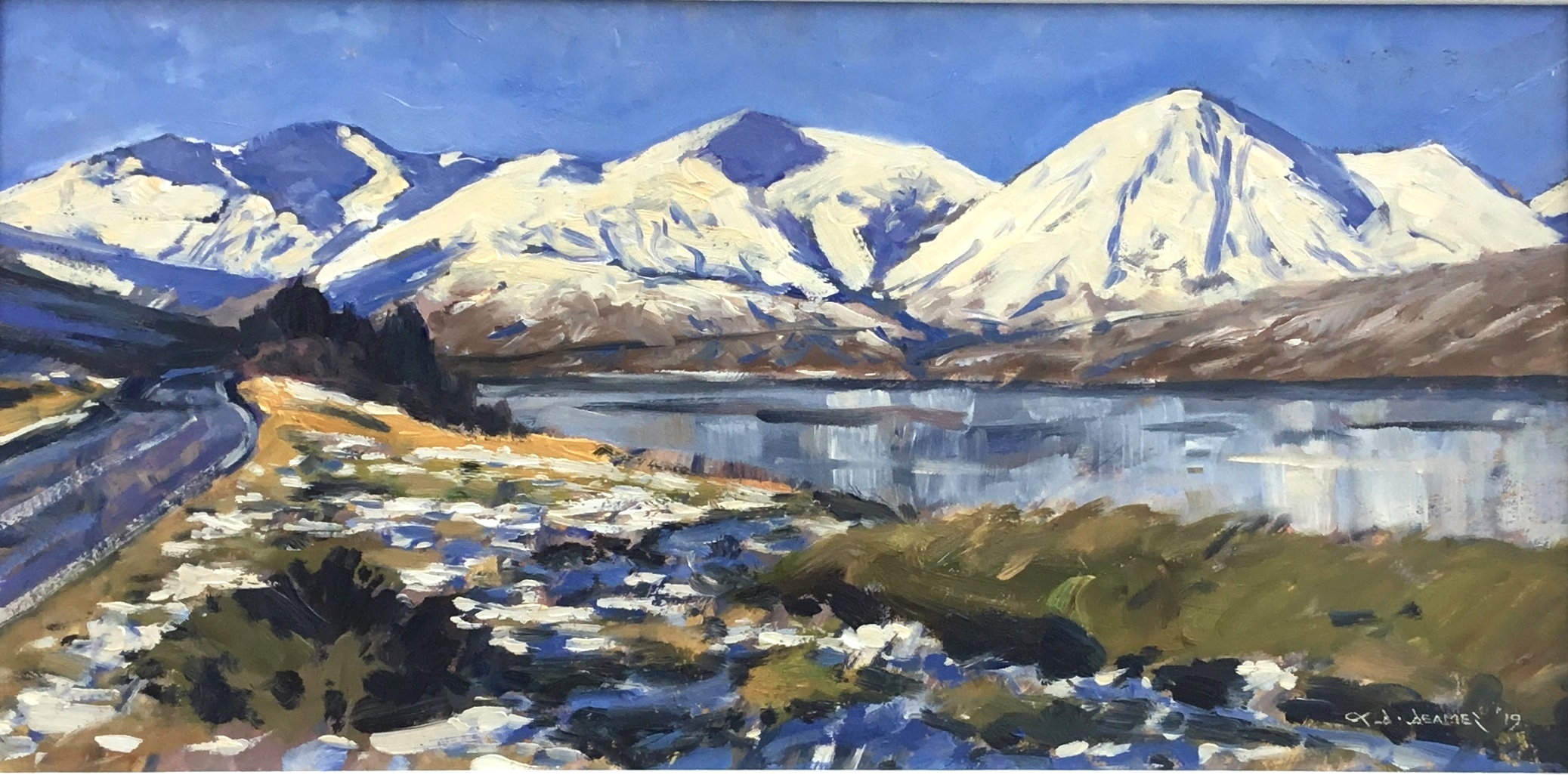 'Snow at Loch Ainort' by artist David  Deamer