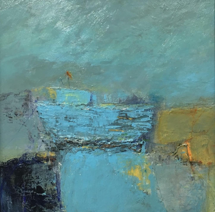 'Wee Blue Boat I' by artist Elaine Cunningham