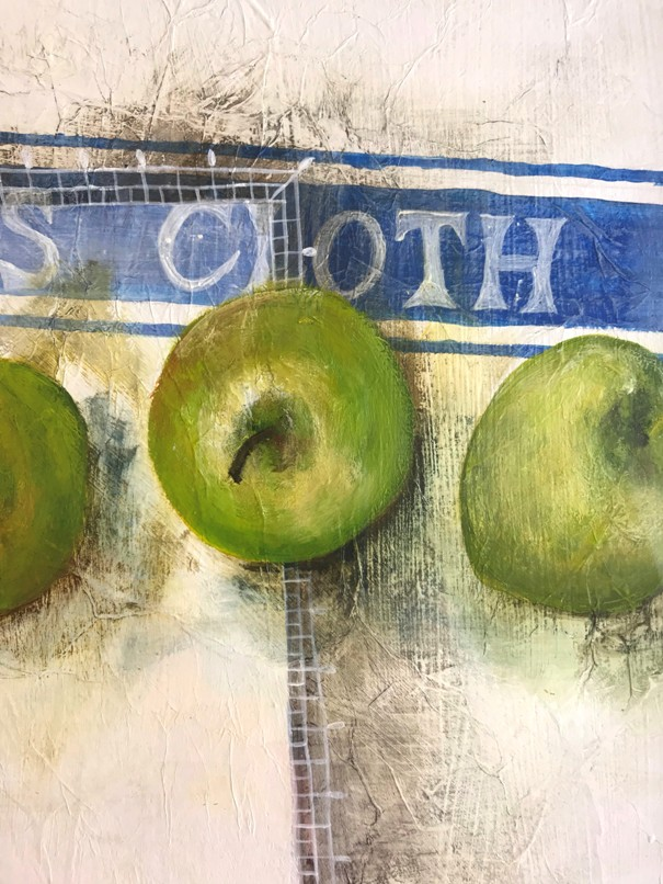 'Row of Granny Smiths ' by artist Janet  Cleghorn