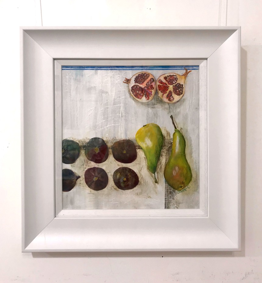 'Figs, Pears and a Pomegranate ' by artist Janet  Cleghorn