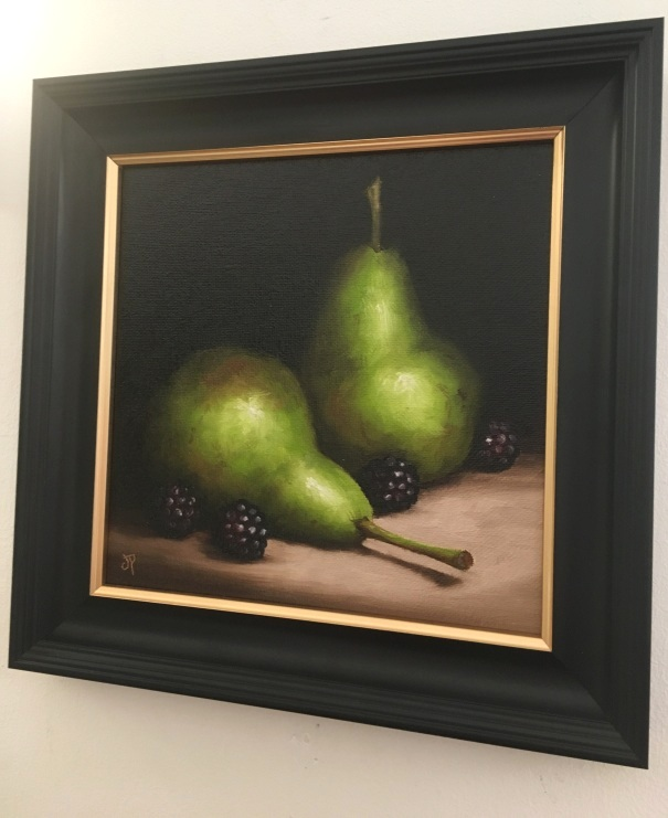 'Pears with Blackberries' by artist Jane Palmer