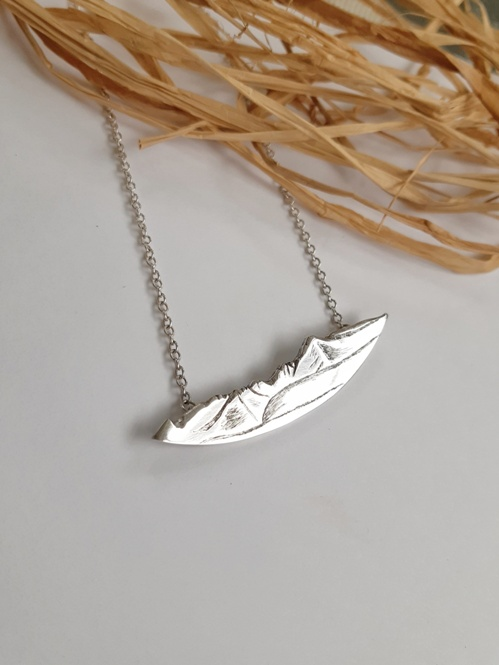 'Statement Arran Necklace' by artist Jess MacDonald Brass