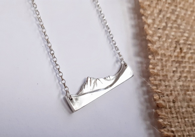 'Cir Mhor (Kia Vor) Necklace' by artist Jess MacDonald Brass